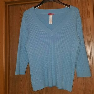 (3 for $20) Blue cable knit sweater